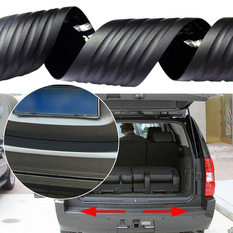 104cm 90cm Universal Car Rubber Rear Guard Bumper Protector Trim Cover Protection Anti-Collision Decorative Strip Car Styling image