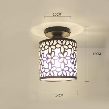 Ceiling lights Minimalist Retro Ceiling Lamp Glass E27 industrial decor  lamps for living room Home Lighting Lustre Luminaria 18