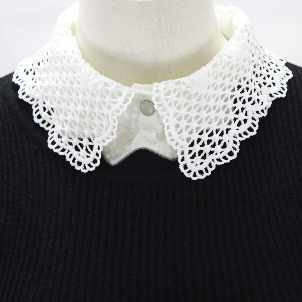 Hollow Out Chiffon Shirt Women Dickie Lace Decoration Lead Half Fake Collar Detachable New Free Shipping Wholesale Necklace