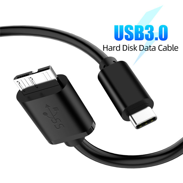 USB 3.1 Type C to Micro B Cable Connector Male to Male Charging Data Cable For External Hard Drive Disk HDD