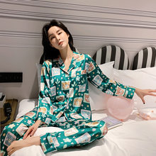 2020 Pijama Mujer Autumn Winter Pajamas Woman Lovely Leisure Two Piece Set Bear Printing Indoor Clothing Home Suit Sleepwear(China)