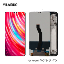 цена на LCD For Xiaomi Redmi Note 8 Pro 6.53 LCD Display Screen + Touch Screen Panel Digitizer Replacement Black No Frame with Tools