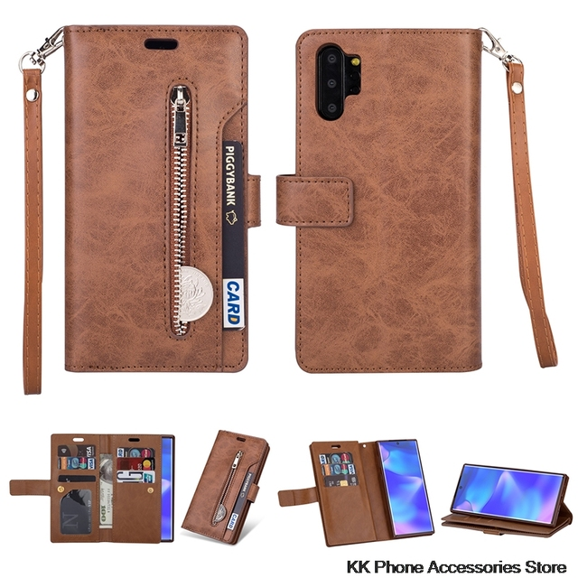 Rits Portemonnee Telefoon Geval Voor Samsung Note 10 Plus 9 8 A70 A50 A60 A40 A20E A7 Flip Leather Case voor Samsung S10 S9 S8 Plus S10e