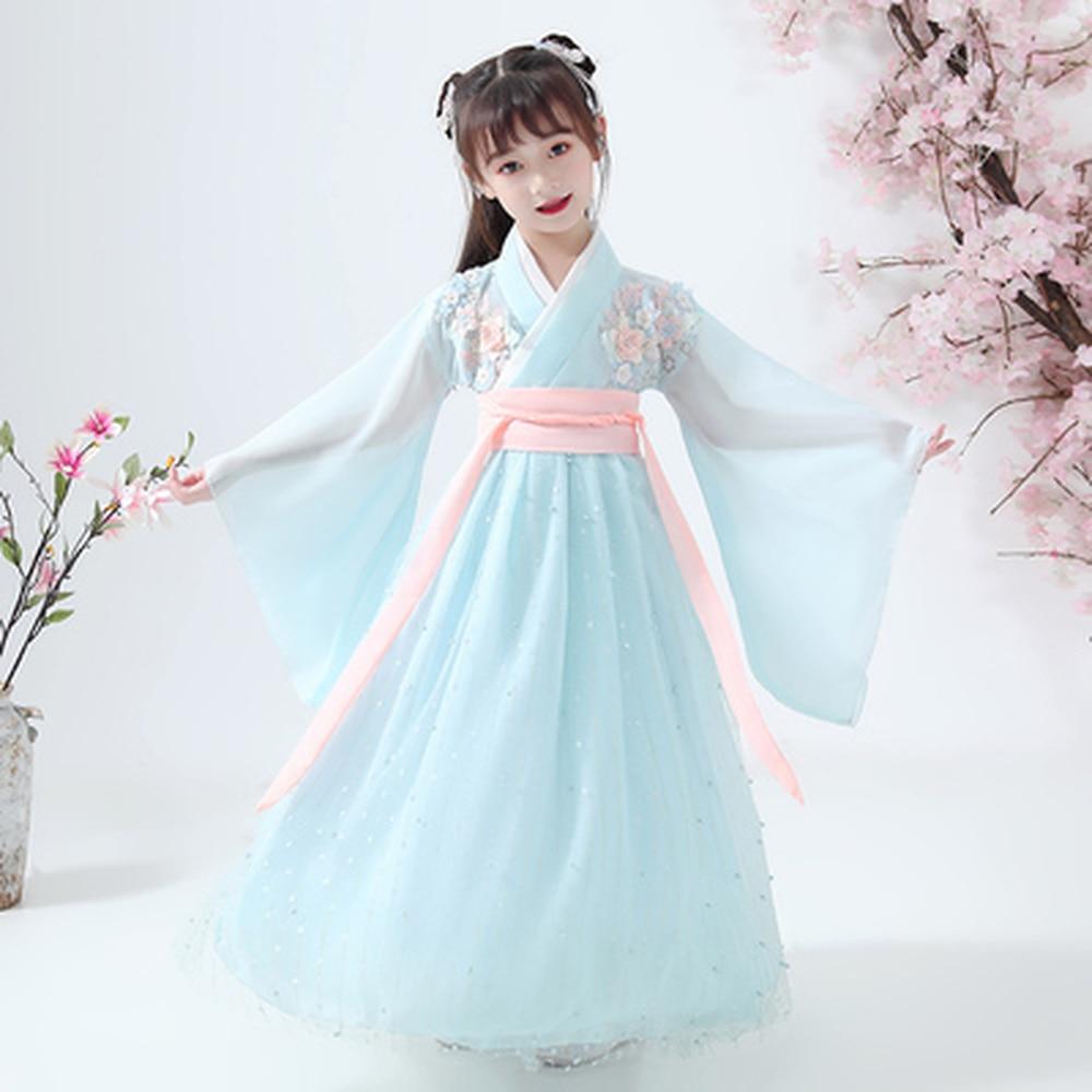 Fantasia chinesa antiga para crianças, vestido tradicional chinês para cosplay de hanfu