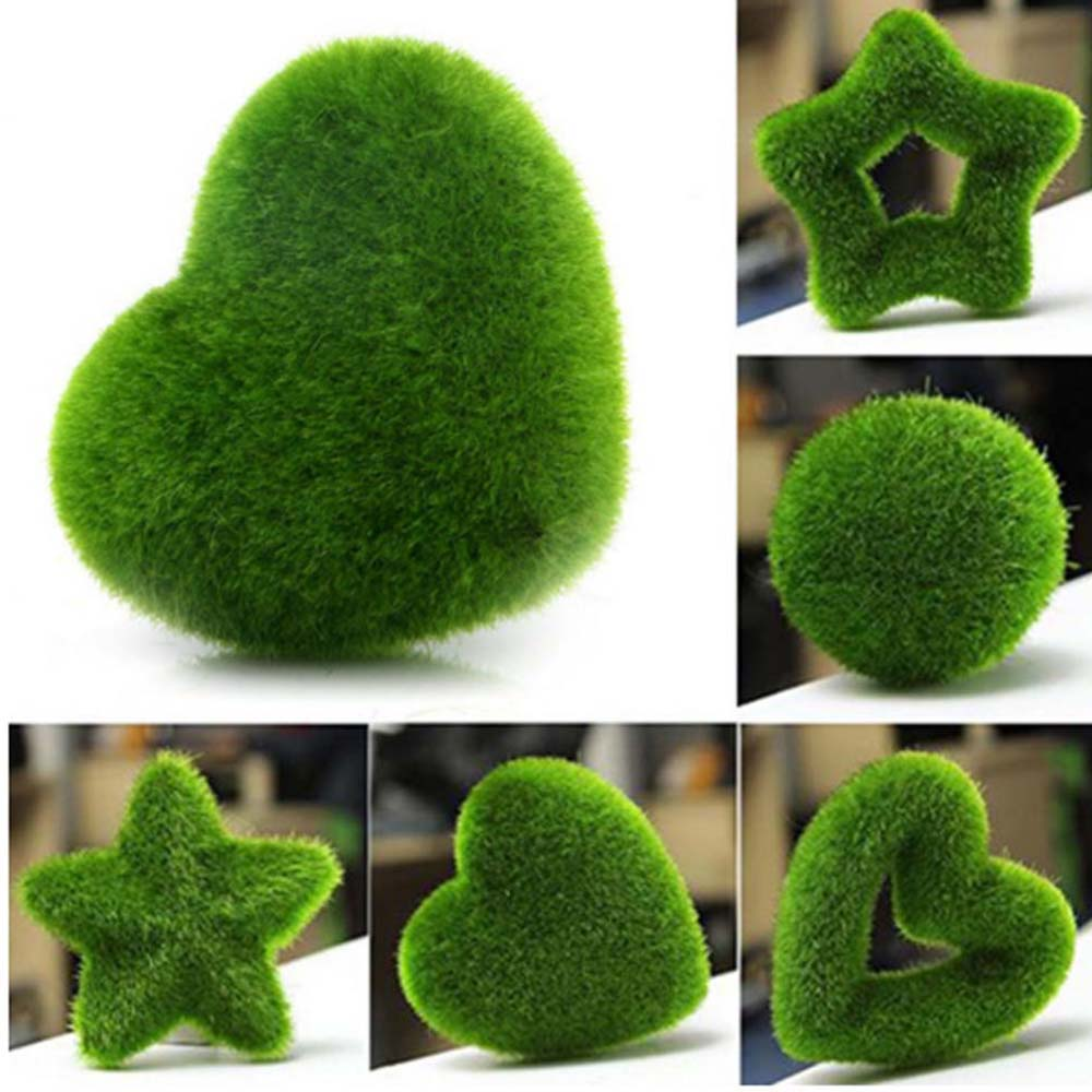 Hot Sale Fashion Lovely 5 Styles Artificial Fresh Moss Balls Green Plant Home Garden Weeding Decoration Party Decor New Arrival