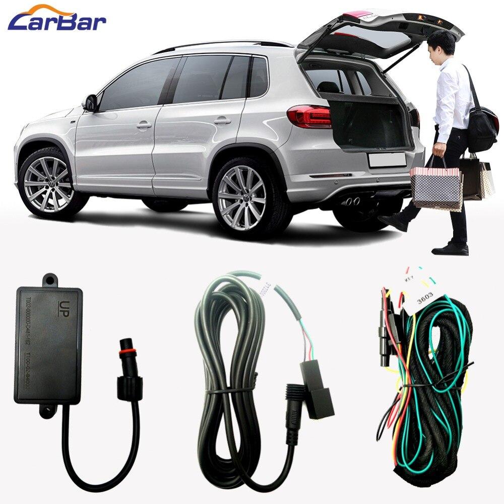 Relearce un pie activado baúl de Sensor inteligente para automóbil elevador eléctrico para puerta trasera de aletas baúl de abrir la puerta del coche