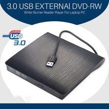 Unidad óptica portátil USB 3,0 DVD-ROM, lector de disco de CD ROM Delgado externo, escritorio, PC, portátil, tableta, promoción, reproductor de DVD