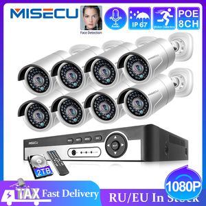 Image 1 - MISECU H.265 8CH 1080P HDMI POE NVR kiti CCTV güvenlik sistemi 2.0MP IR açık ses kayıt IP kamera P2P video gözetleme seti