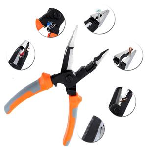 8inch 5 in 1 Cable Wire Stripper Pliers Cutter Crimper Automatic Stripper Electrician Tools Self Adjusting Wire Stripping Pliers|Pliers| |  -
