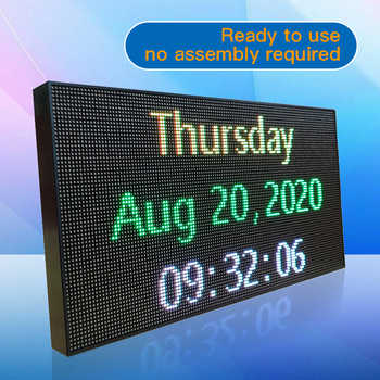 Portable Small LED Billboard LED Sign word display digital signage indicator Rolling subtitle Multi show Phone WiFi change word - SALE ITEM All Category