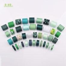 Набор лент зеленого цвета с принтом в виде одного лица 41 шт