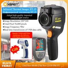 XEAST Professional Edition 핸드 헬드 HT 19 적외선 열 이미 저 320*240 HD 검출기 0.07 고감도 프리 멀티 미터