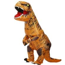 Надувной костюм тирекса динозавра, праздничные костюмы для косплея, маскарадный аниме костюм на хэллоуин для взрослых, детей, мультяшный динозавр