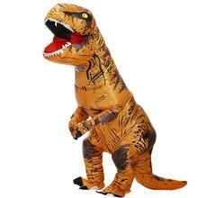 Hot T REXไดโนเสาร์Inflatable Costume Partyชุดคอสเพลย์แฟนซีMascotอะนิเมะฮาโลวีนเครื่องแต่งกายสำหรับผู้ใหญ่เด็กDinoการ์ตูน