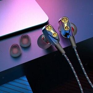 Проводные наушники 3,5 мм, стерео наушники-вкладыши с микрофоном 3,5 мм, 3D наушники с басами, металлическая Спортивная гарнитура для iPhone, Xiaomi, ...