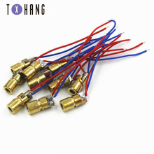 10PCS 3V 650nm 5mW Adjustable Laser Dot Diode Module Red Sight Copper Head Mini Laser Pointer