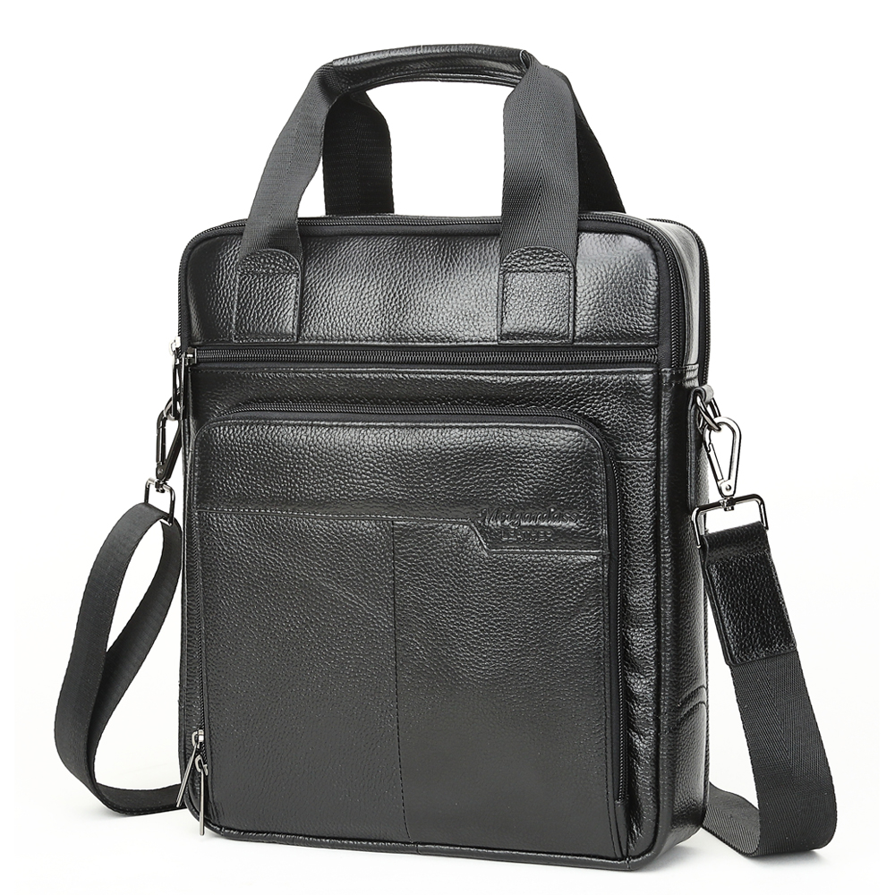 Image 3 - MEIGARDASS Genuine Leather Business Briefcase Men Travel Shoulder  Messenger Bags Male Document Handbags Laptop Computer BagBriefcases