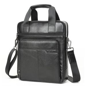 Image 3 - MEIGARDASS Genuine Leather Business Briefcase Men Travel Shoulder Messenger Bags Male Document Handbags Laptop Computer Bag