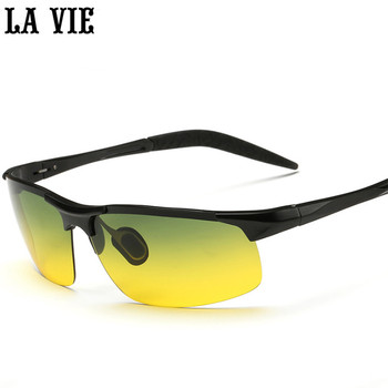 Night Vison Aluminum-magnesium Alloy Men's Polarized Sunglasses Reduce Glare Driving Sun Glass Goggles Oculos De Sol Gafas