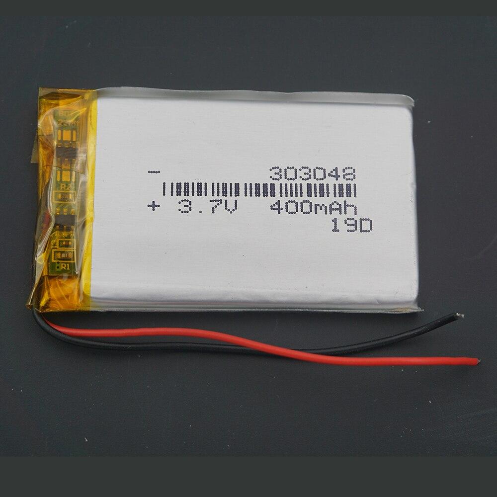 XINJ 3.7V 400 mAh bateria litowo-polimerowa bateria litowo-jonowa 303048 dla głośników MP4 E-book zegarki telefoniczne