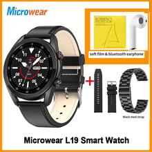 Prezent Microwear L19 Smartwatch Bluetooth Call IP68 wodoodporny miernik tętna ekg Tracker do monitorowania aktywności fizycznej VS DT95 L16 L19 inteligentny zegarek tanie tanio CN (pochodzenie) Android OS Na nadgarstku Wszystko kompatybilny 128 MB Passometer Fitness tracker Uśpienia tracker