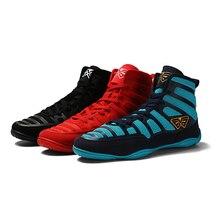 Для мужчин Профессиональный Бокс Борьба обувь на резиновой подошве, из дышащего материала Военные кроссовки со шнуровкой тренировка, бой сапоги
