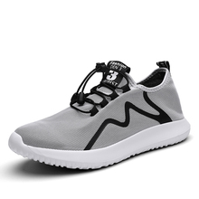 2020 Mens Casual Shoes Breathable Comfortable Male Non-slip Lace-Up Top Quality Men Sneakers Solid