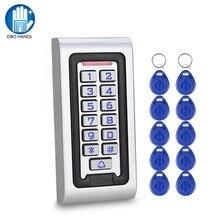 Наружная IP68 Водонепроницаемая клавиатура управления доступом 125 кГц клавиатура RFID непромокаемый металлический корпус пароль открывалка двери ключ карты для дома
