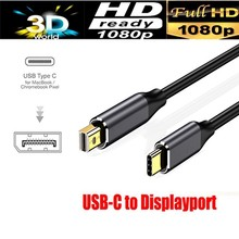 1.8M USB C to Mini Display Port Cable 4K 60HZ HDTV Type-C Converter Adapter for HuaWei Sansung Smart Phone(China)