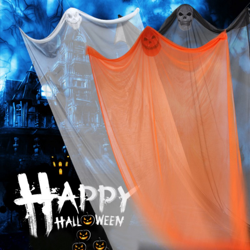 H5b6fb44bf0c0495d8b881ebf82a7fc96R - 3.3M Long Halloween Hanging Skeleton Flying Ghost Decorations For Outdoor Indoor Party Bar Scary Props Halloween Decoration
