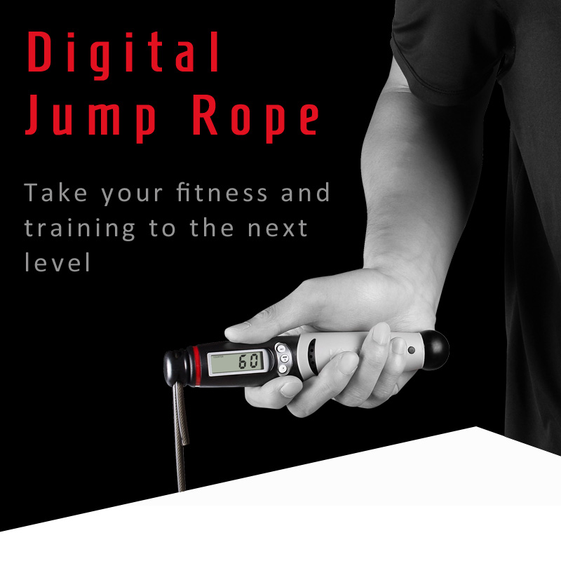 KYTO Skipping Rope with Digital Counter for Indoor/Outdoor Fitness Training and Workout 5
