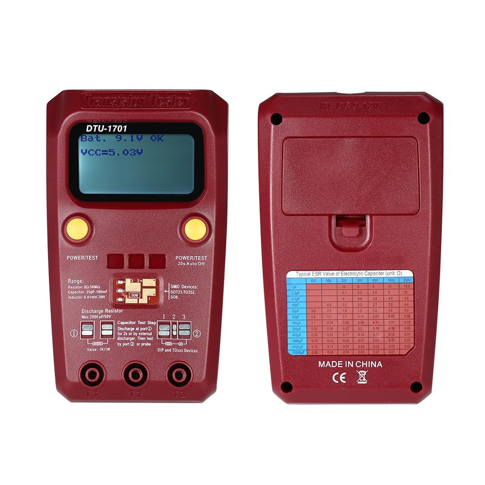 KKMOON Портативный ЖК цифровой Транзистор тестер SMD сопротивление диод индуктивность емкость ESR метр Транзистор тестер