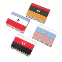 Vrouwen Portemonnee Little Bee Pu Lederen Dames Korte Portemonnee Drievoudige Stiksels Multi-Card Portemonnee Vrouwelijke Clutch Bag groothandel