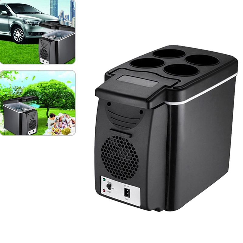 Car Refrigerator Fridge Cooler Multi-Function Warmer Temperature-Control Travel 12V 6L