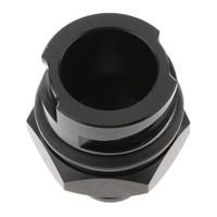 Tapa de aceite de cubierta de válvula negra Billet 10AN ajuste para LSX LS1/LS6/LS2/LS3/LS7|Tapones de aceite|Automóviles y motocicletas -