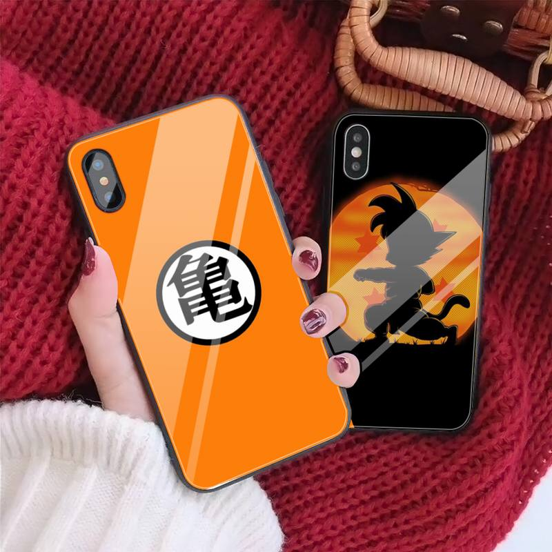 Anime Dragon Balls Glass Phone Case Fundas Coque For IPhone 11 Pro Max Cases XR XS 12 7 8 Plus Cover Accessories Carcasa|Phone Case & Covers| - AliExpress