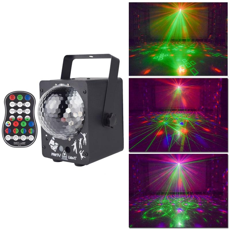 Лазерный RGB-проектор YSH для дискотеки, праздвечерние чный светильник с диджейским эффектом, светодиодная лампа для украшения дома и свадьбы