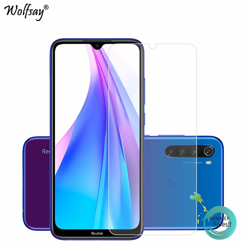2PCS Glass For Xiaomi Redmi Note 8T Tempered Glass Screen Protector For Xiaomi Redmi Note 8T Phone Film For Xiaomi Redmi Note 8T