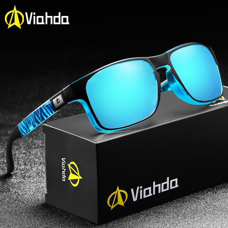 VIAHDA Sports Sunglasses Polarized and UV400 Protection Mens Sun Glasses Driving Fishing and BoatingMens Sunglasses   -