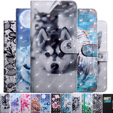 Case 2-Phone-Book-Cover iPhone 11 12 Mini 6s-Plus for Pro Max-X-Xs XR Flower Painted