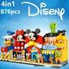 Disney set amici principessa ragazze topolino negozio negozio castello cuore lago città Building Block mattoni giocattoli regali 4in1