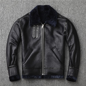 Image 3 - Free shipping,2020 new style warm genuine leather jacket.100% thick wool sheepskin coat.natural shearling outwear.Fur B3