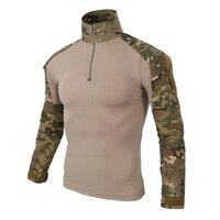 12 цветов, камуфляжная тактическая одежда, военные рубашки для мужчин, армейская военная форма, проверенная в бою, армейская полевая охотнич...