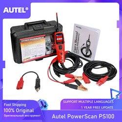 Autel powerscan ps100 sistema elétrico diagnóstico de circuito, ferramenta de teste e testador elétrico 12v/24v