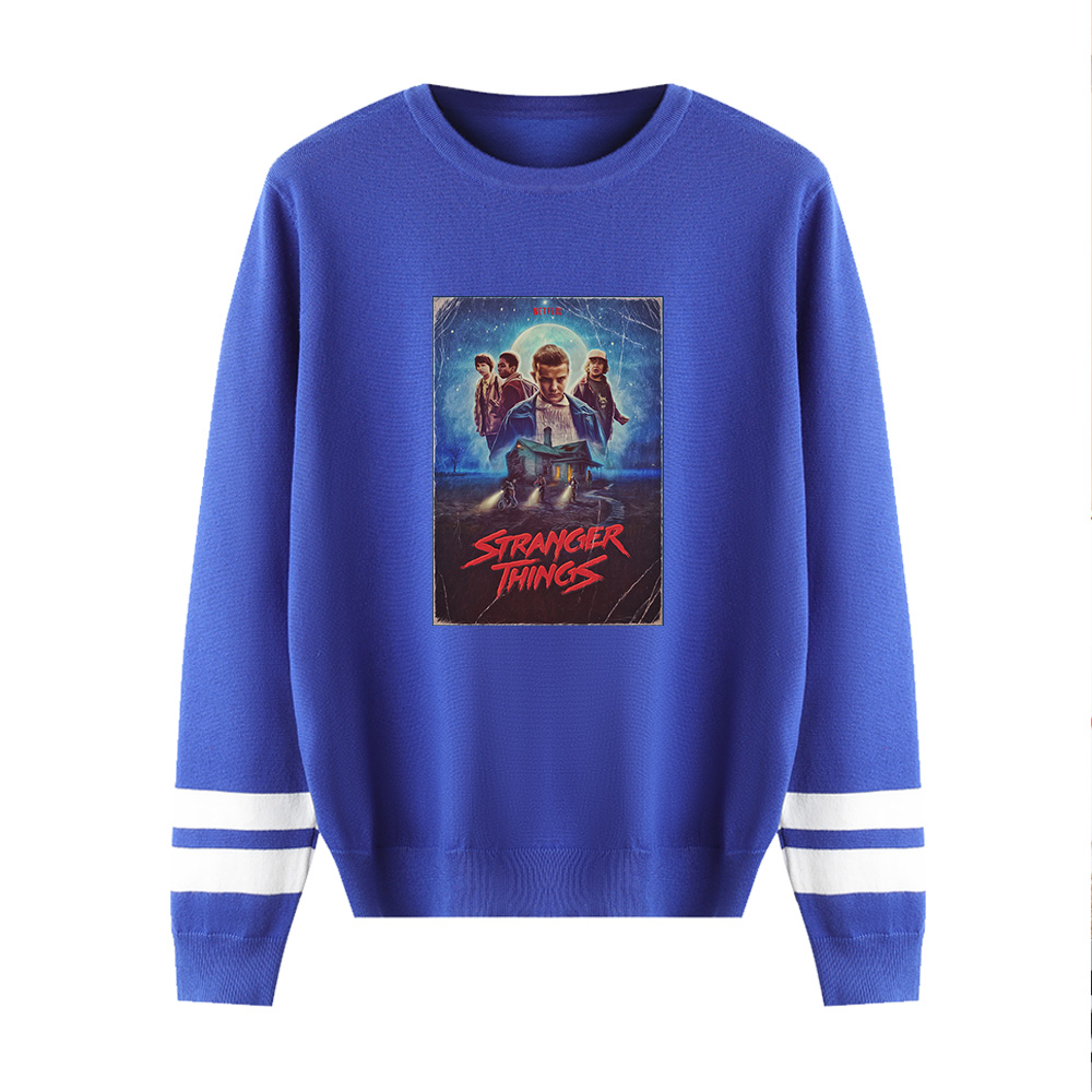 Hip Hop Kpop Sweater Stranger Things Men/women Print Casual Harajuku Kid's 0-neck Sweater Casual Children Tops