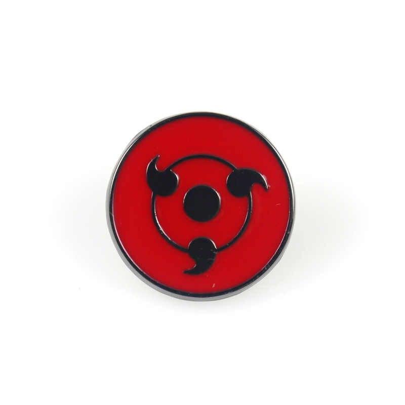 Japan Anime Cosplay Naruto Enamel Broches Akatsuki Organisatie Red Cloud Teken Metalen Reversspeldjes Rugzak Tassen Badge Collectie