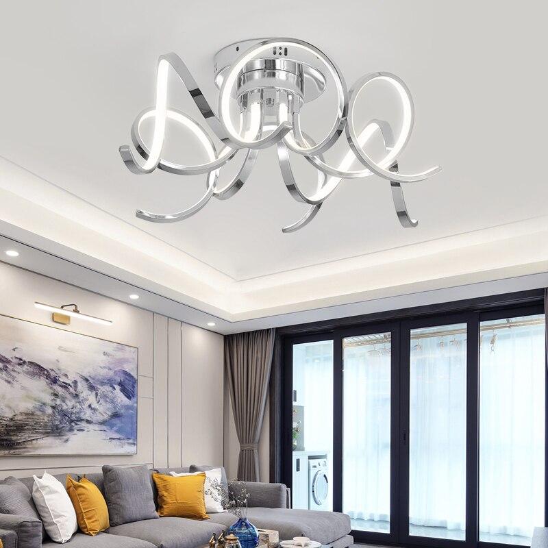 Neue Chrom/Gold Überzogene led Decke Lichter 90-260V Moderne Hause Decke Lampe Leuchten für wohnzimmer zimmer schlafzimmer studie zimmer