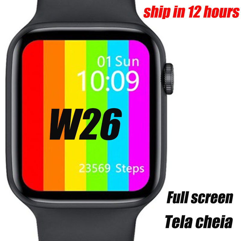 VIP 2020 Smartwatch IWO W26 44mm Watch 6 Smart Watch ECG Heart Rate Monitor Temperature IP68 Waterproof PK IWO 11 IWO 8 IWO 13