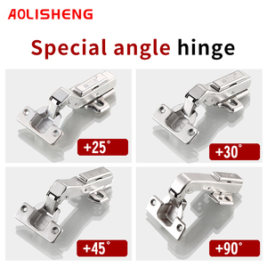 Image 2 - Free Shipping 90 Degree Special Angle Hinge  45 Degree 25 Degree Hydraulic Hinge Angle Corner Fold Cabinet Door Hinges Furniture