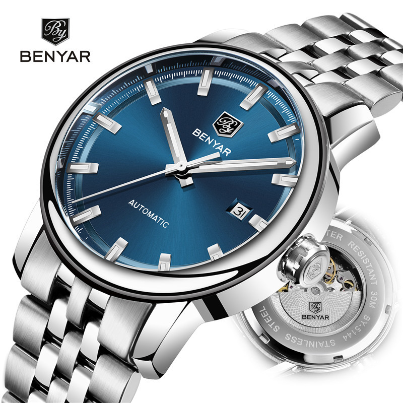 BENYAR Men Mechanical Watch Automatic Mens Watches Top Brand Luxury Watch Men WristWatch Military Waterproof Relogio Masculino